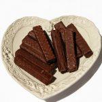 Rotweinschnitten mit Schokolade