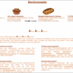 Zahlreiche Backrezepte Kuchen, Brot, Torten uvm